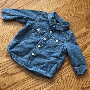 Baby Gap Chambray Button Down 3-6 months